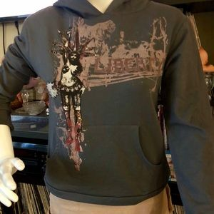 Folter liberty light weight grey hoodie size s